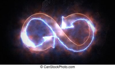 The symbol of infinity glows in the fire. Infinity 36 - The...