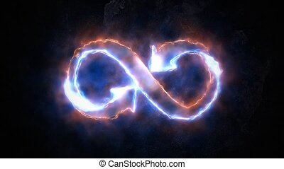 The symbol of infinity glows in the plasma. 32 - The symbol...