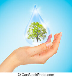The symbol of Save Green Planet