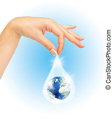 The symbol of Save Planet