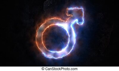 The symbol of the male principle is on fire. 31 - The symbol...
