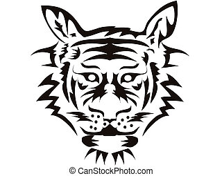 the symbol of tiger head