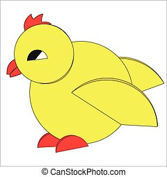 The symbolic figure of a little bird