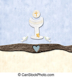 The symbols of the First Communion