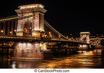 Szechenyi Chain Bridge in Budapest