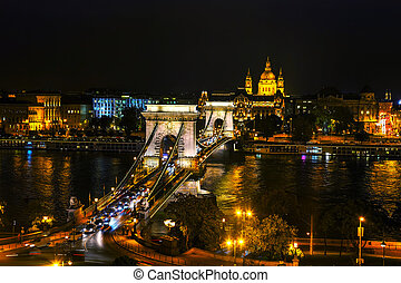 The Szechenyi Chain Bridge in Budapest