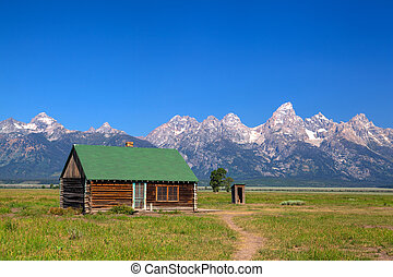 The T. A. Moulton Barn is a historic barn in within the Mormon Row Historic District in Teton County, Wyoming, United States