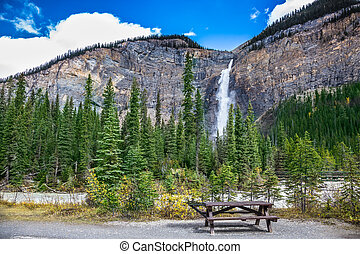The table for picnic in Yoho National Park