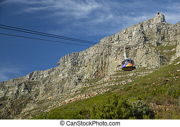 The Table Mountain Cable Way taking tourists onto Table...