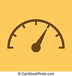Color vector tachometer, speedometer icon, performance ...