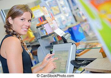 the tactile cashier screen