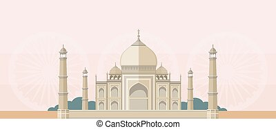 The Taj Mahal Flat Image