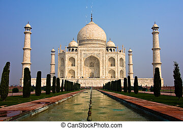 The Taj Mahal mausoleum - Agra, Uttar Pradesh, India