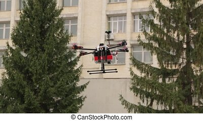 The Take Off Drone the - Take off drone flies and land on