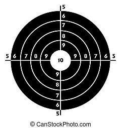 The target for shooting practice at a shooting range with a ...