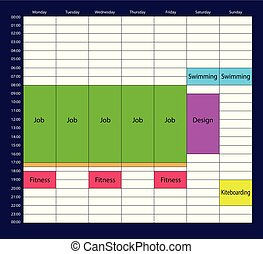 The task planner mockup with white background for business.