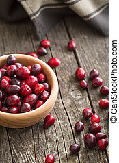 The tasty american cranberries.