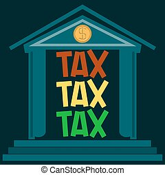 The taxes, the traffic light in the building. Payment of taxes. Time to pay taxes.