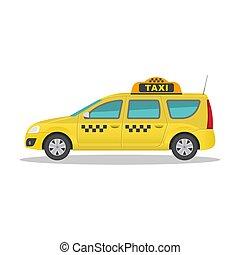 The taxi car