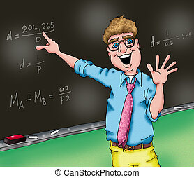 The Teacher - An image of a teacher who really loves his...