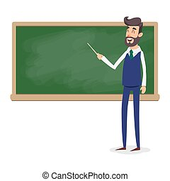 Adults in a college classroom. A vector illustration of ...