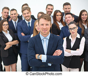 The team of the successful people with their boss - Portrait...