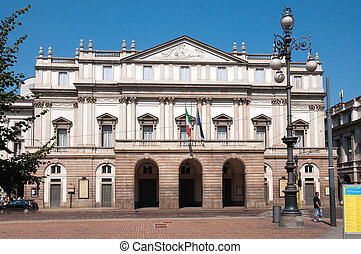 La Scala (Italian: Teatro alla Scala), is a world renowned opera house in Milan, Italy. The theatre was inaugurated on 3 August 1778. Today the theatre is recognised as one of the leading opera and ballet theatres in the world.