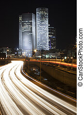 Tel Aviv night city