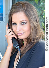 The telephone call - Businesswoman talking on the telephone