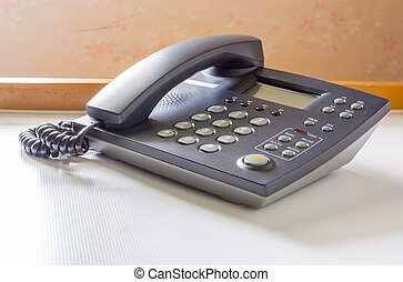 The telephone on table