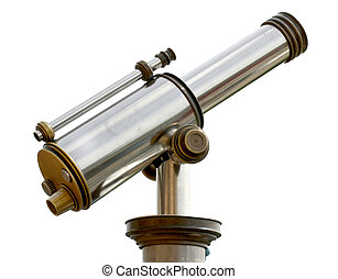 An isolated image of a tourist-type telescope