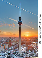 The Television tower in Berlin