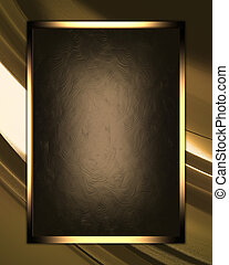 Gold abstract texture with brown nameplate - The template...