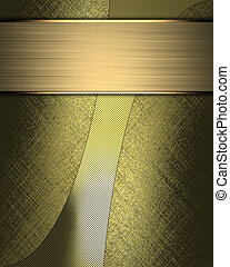 Gold Background with abstract gold pattern and gold nameplate.