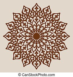 The template mandala pattern for decorative rosette. A...