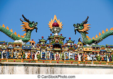 The temple carving