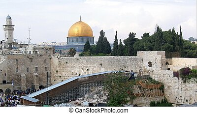 The Temple Mount in Jerusalem.