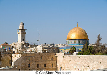 The Temple Mount in Jerusalem - A view of Temple Mount in...