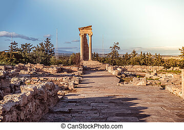 The temple of Apollo at Kourion. Limassol District, Cyprus