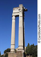 The Temple of Apollo Sosianus in Rome, Italy