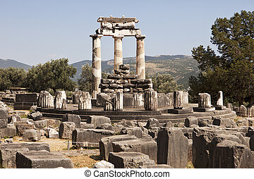 The Temple Of Athena At Delphi