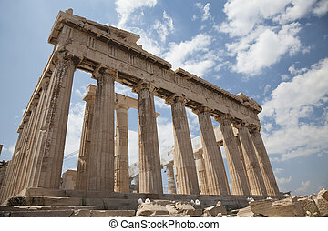 Parthenon, Athens, Greece - The Temple of Athena at the...