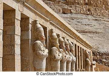 Hatshepsut near Luxor in Egypt - The temple of Hatshepsut...