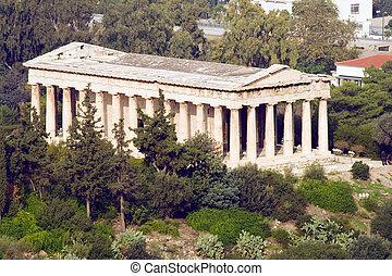 Temple of Hephaestus - The Temple of Hephaestus located in...