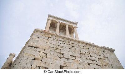The Temple of Niki Apteros in the Athenian Acropolis.
