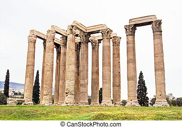 The Temple of Zeus, Athens, Greece