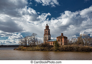 The temple was built on the banks of the river