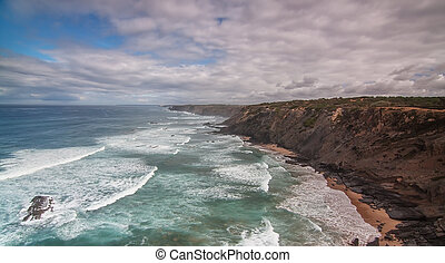 The tempting coast of Portugal Costa Vicentina, Sagres. - ...