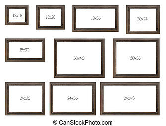 The Ten Most popular Selling Frames Dimensions of a Brown ...