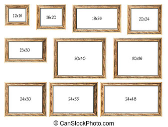 The Ten Most popular Selling Frames Dimensions of a Golden...